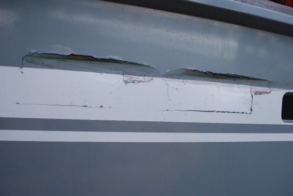 Moby Dick III Schaden nach Kollision